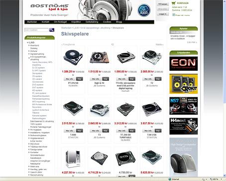 Uppdatering av e-butiken